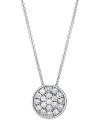Effy Collection Trio By Effy Diamond Disc Pendant Necklace 1 4 Ct. T.W. In 14K White Rose Or Yellow Gold White Gold