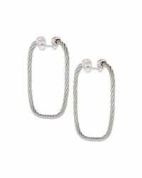 Alor Classique Square Hoop Earrings Gray