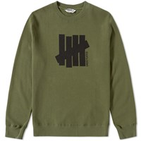 Undefeated Strike Vertical Crew Sweat Green