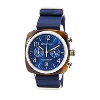 Briston Classic Chronograph Date Blue Sunray Dial Multi