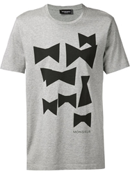 Viktor And Rolf Bow Tie Print T Shirt Grey