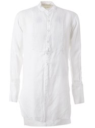 Greg Lauren Studio Tux Shirt White
