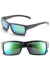 Women's Smith Optics 'Outlier' 56Mm Polarized Sunglasses Matte Black Polar Green Sol X