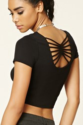 Forever 21 Strappy Back Crop Top