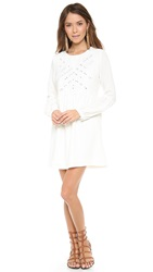 Twelfth St. By Cynthia Vincent Embroidered Mirror Dress White