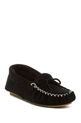 Bearpaw Ashlynn Wool And Genuine Sheepskin Lined Moccasin Black