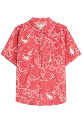 Current Elliott Printed Shirt With Cotton Red