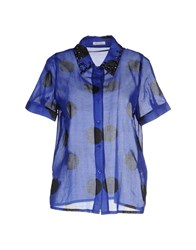 Beayukmui Shirts Shirts Women Blue