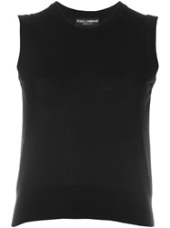 Dolce And Gabbana Sleeveless Knit Top Black