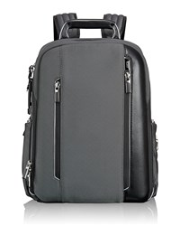 Arrive Pewter Silver Logan Backpack Tumi