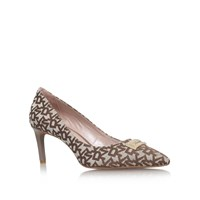 Dkny Eviey Mid Heel Court Shoes Brown