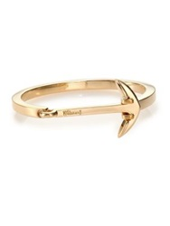 Miansai Anchor Cuff Bracelet Polished Gold