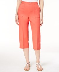 Alfred Dunner Pull On Capri Pants Coral