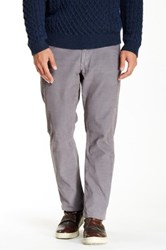 Bonobos French Corders Straight Pant 30 36' Inseam Gray