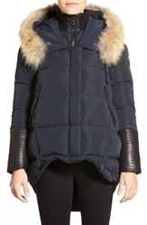 Women's Rudsak 'Aspen' Genuine Coyote Fur And Leather Trim Hooded Down Drop Tail Coat