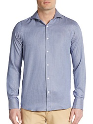 Report Collection Regular Fit Neat Pattern Sportshirt Blue