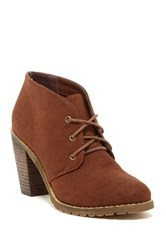 Restricted Petal Lace Up Bootie Brown