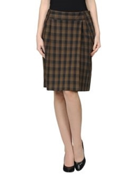 Murphy And Nye Knee Length Skirts Khaki