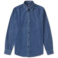 Wood Wood Flint Denim Shirt Blue