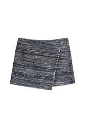 Diane Von Furstenberg Cotton Blend Knit Mini Skirt Multicolor