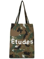 Etudes Camouflage Print Tote Green