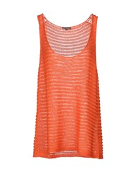Scaglione Topwear Tops Women Orange