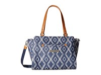 Petunia Pickle Bottom Glazed Statement Satchel Indigo Satchel Handbags Blue