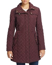 Cole Haan Quilted Jacket Eggplant