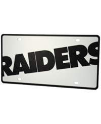 Stockdale Oakland Raiders Printed License Plate Silver