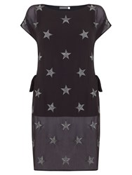 Mint Velvet Star Embroidered Tunic Grey