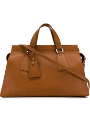 Giorgio Armani Large Tote Bag Brown