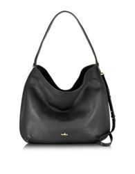 Hogan New Print Large Leather Hobo Bag Black