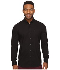 Volcom Oxford Stretch Long Sleeve Woven Black Men's Clothing