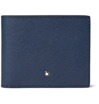 Montblanc Sartorial Cross Grain Leather Billfold Wallet Storm Blue