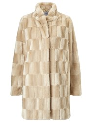 Marella Tebe Faux Fur Coat Honey