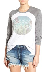 Rip Curl Women's 'Cactus Beach' Graphic Raglan Sleeve Tee