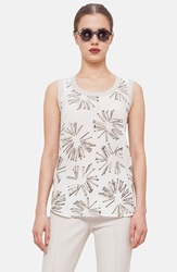 Akris Punto Print Wool Knit Tank Canvas