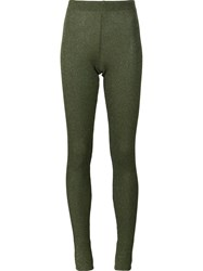 Marios 'Shimmery' Ribbed Leggings Green