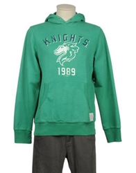 Retro Brand Hooded Sweatshirts Emerald Green