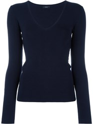 Joseph Scoop Neck Jumper Blue