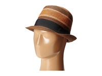 Scotch And Soda Retro Striped Straw Hat Brown Caps