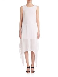 Prose And Poetry Karen Sheer Handkerchief Dress White