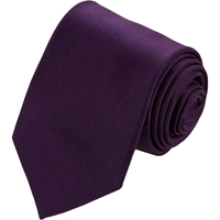 Drakes Satin Neck Tie Purple