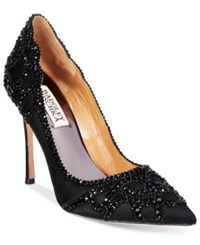 Badgley Mischka Rouge Evening Pumps Women's Shoes Black