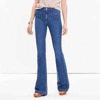 Madewell Short Flea Market Flare Jeans Sailor Edition In Lucy Wash