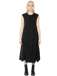 Y's Oversized Twisted Twill Dress