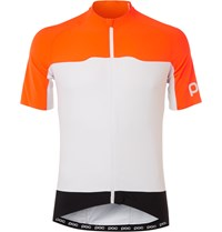 Poc Avip Mesh And Stretch Shell Cycling Jersey Orange