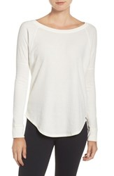 Under Armour Women's Long Sleeve Knit Tee Ivory Ivory