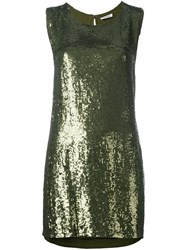 P.A.R.O.S.H. Sequined Mini Dress Green