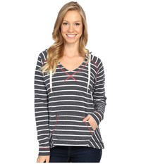 Columbia Tropic Haven Stripe Hoodie Collegiate Navy Stripe Women's Sweatshirt Multi